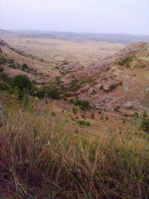 Pianura di Santa Lucia veduta dall'alto da Bonorva