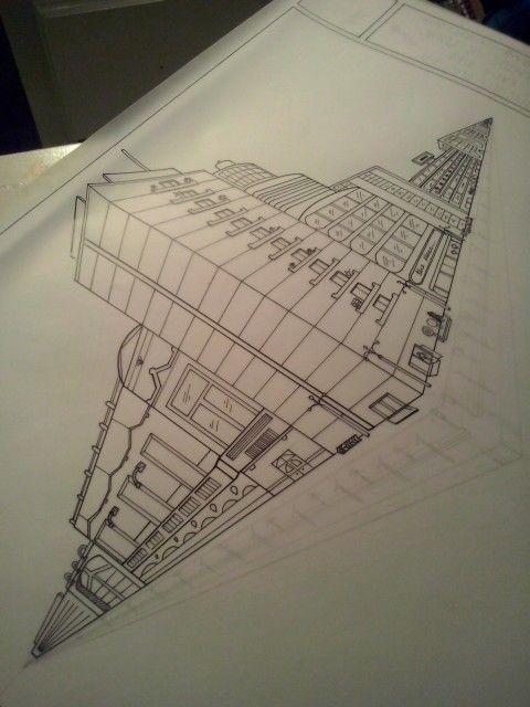 Dos Puntos De Fuga Punto De Fuga Dibujos De Edificios 3 Puntos De Fuga