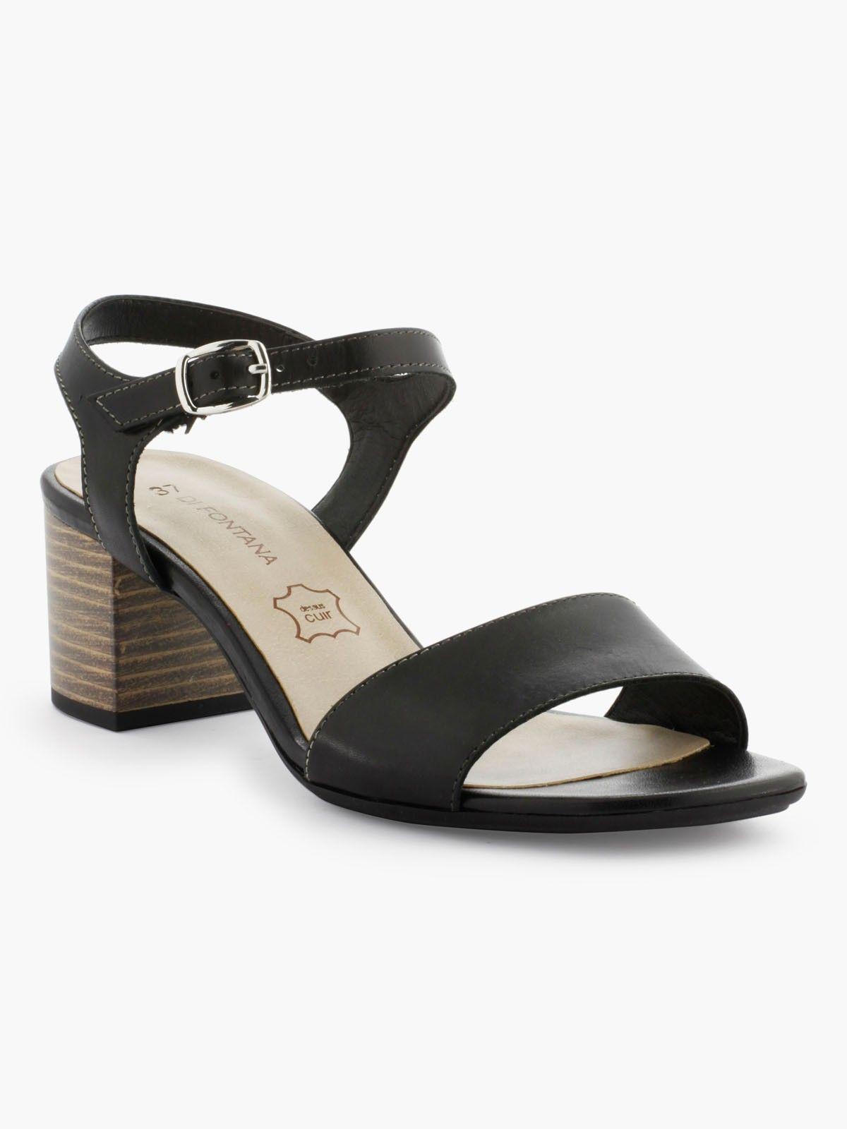 Découvrez les caractéristiques du produit Sandales En Cuir à Talon, sur le site de La Halle, marque de vêtements et chaussures pour femmes et hommes.