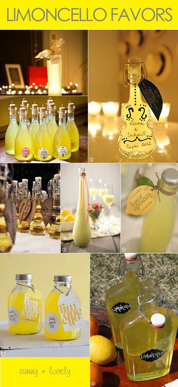 Limoncello Wedding Favor Bottles Limoncello, Favors and Wedding - deko f r k chenw nde