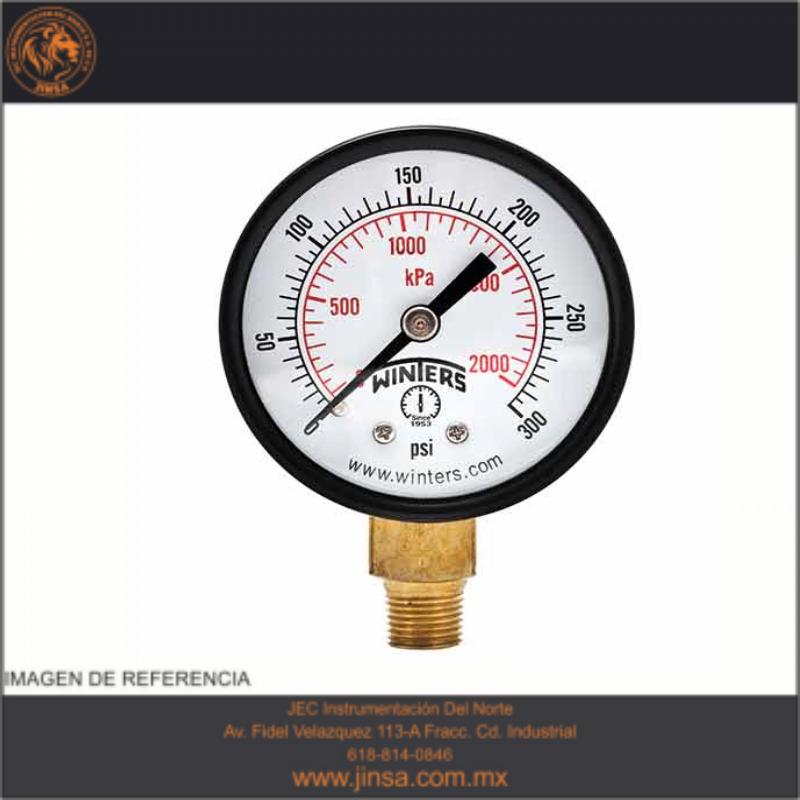 """Pem1437 manometro de presion caratula de 2.5"""" acero"""
