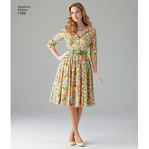 Simplicity Pattern 1459 Misses\' & Miss Petite 1950\'s… | Sewing ...