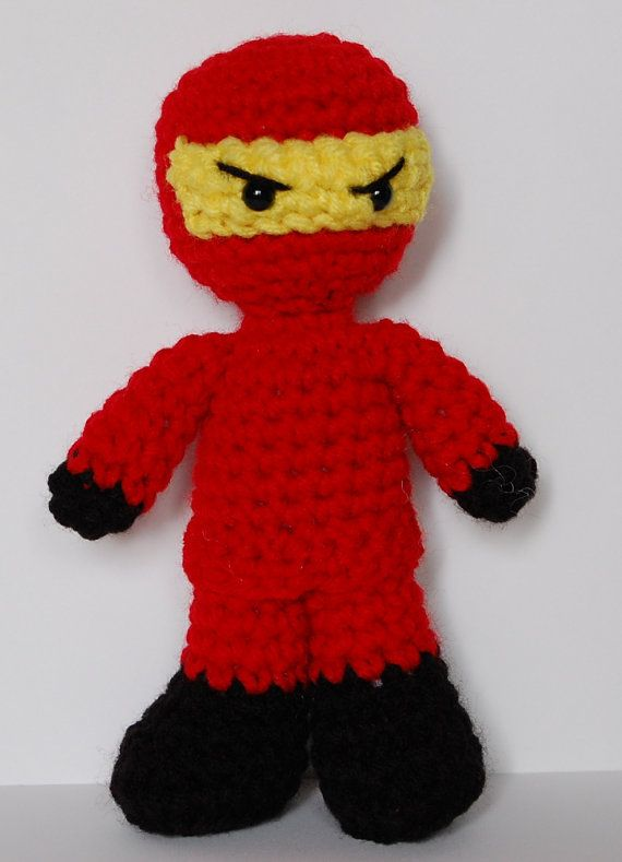 crochet lego ninjago amigurumi dolls by efficientsense on etsy ninjago pinterest selber. Black Bedroom Furniture Sets. Home Design Ideas