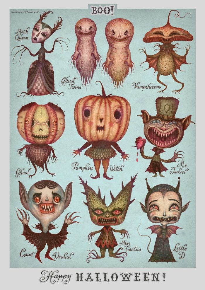 Happy Halloween Print By Vladimir Stankovic Halloween