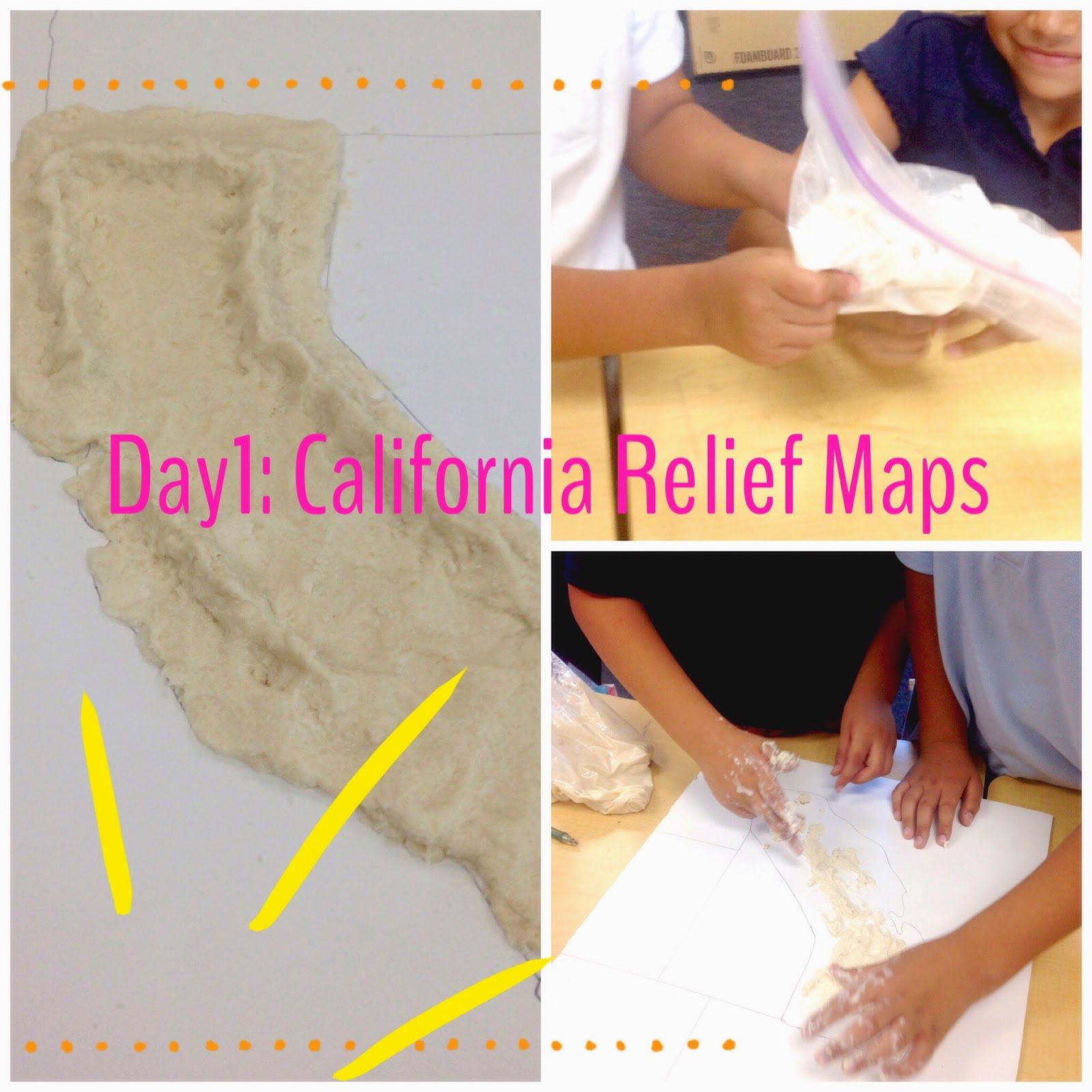 California Relief Maps A Great Hands On Social Stu S