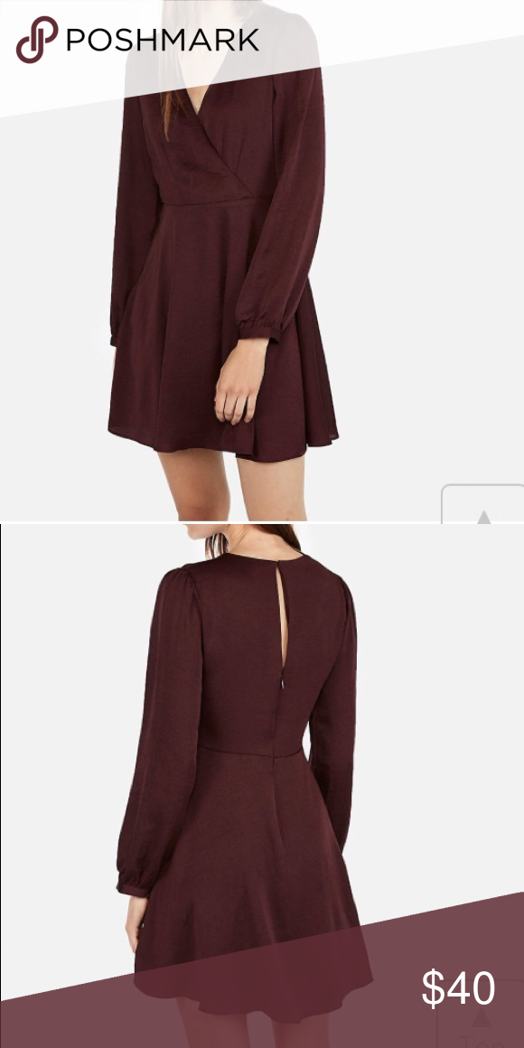 Long Sleeve Fit And Flare Dress In 2020 Fit And Flare Dress Dresses Express Dresses