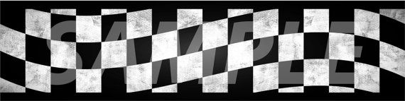 Wall Border Set Checker Flag Wave 16 Ft X 6 In Decal Sticker