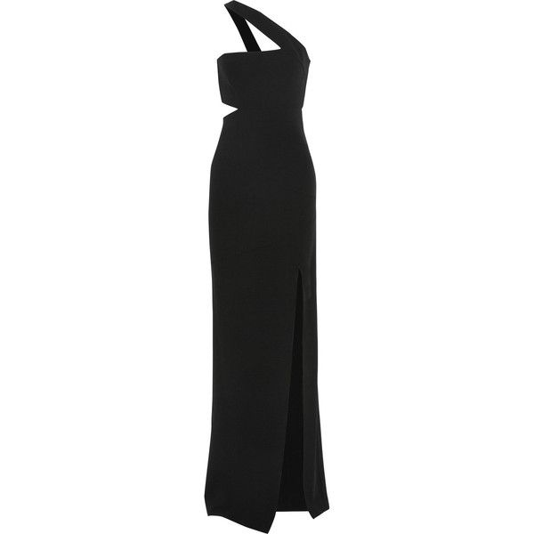 Michael Kors Collection One-shoulder stretch-wool gown (42,185 THB ...
