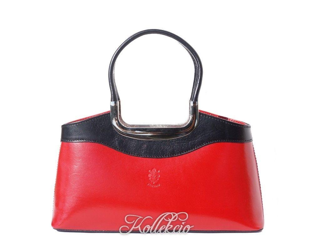 Elegant Italian Leather Handbag With Double Handle Kollekcio 1