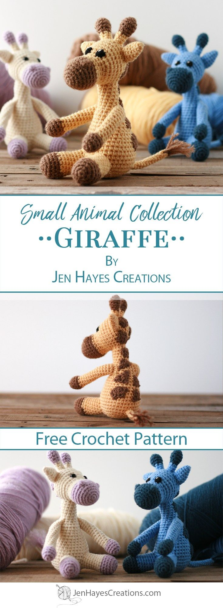 Small Animal Collection: Giraffe #crochetgiraffepattern