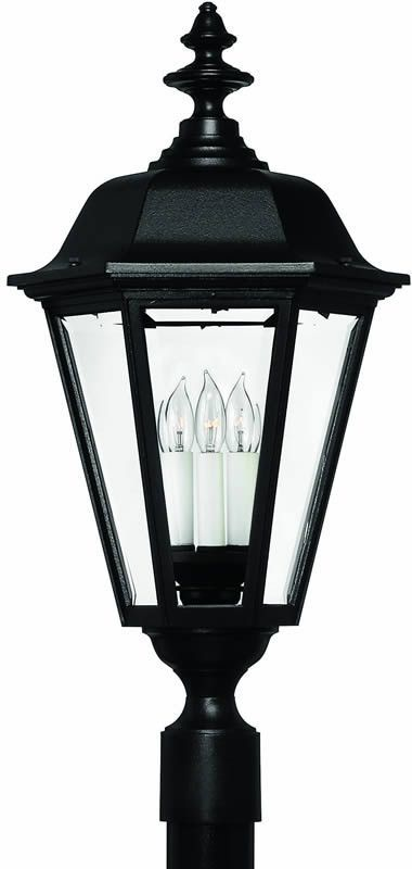 0 014531 27 H Manor House 1 Light Extra Large Outdoor Wall Lantern Black