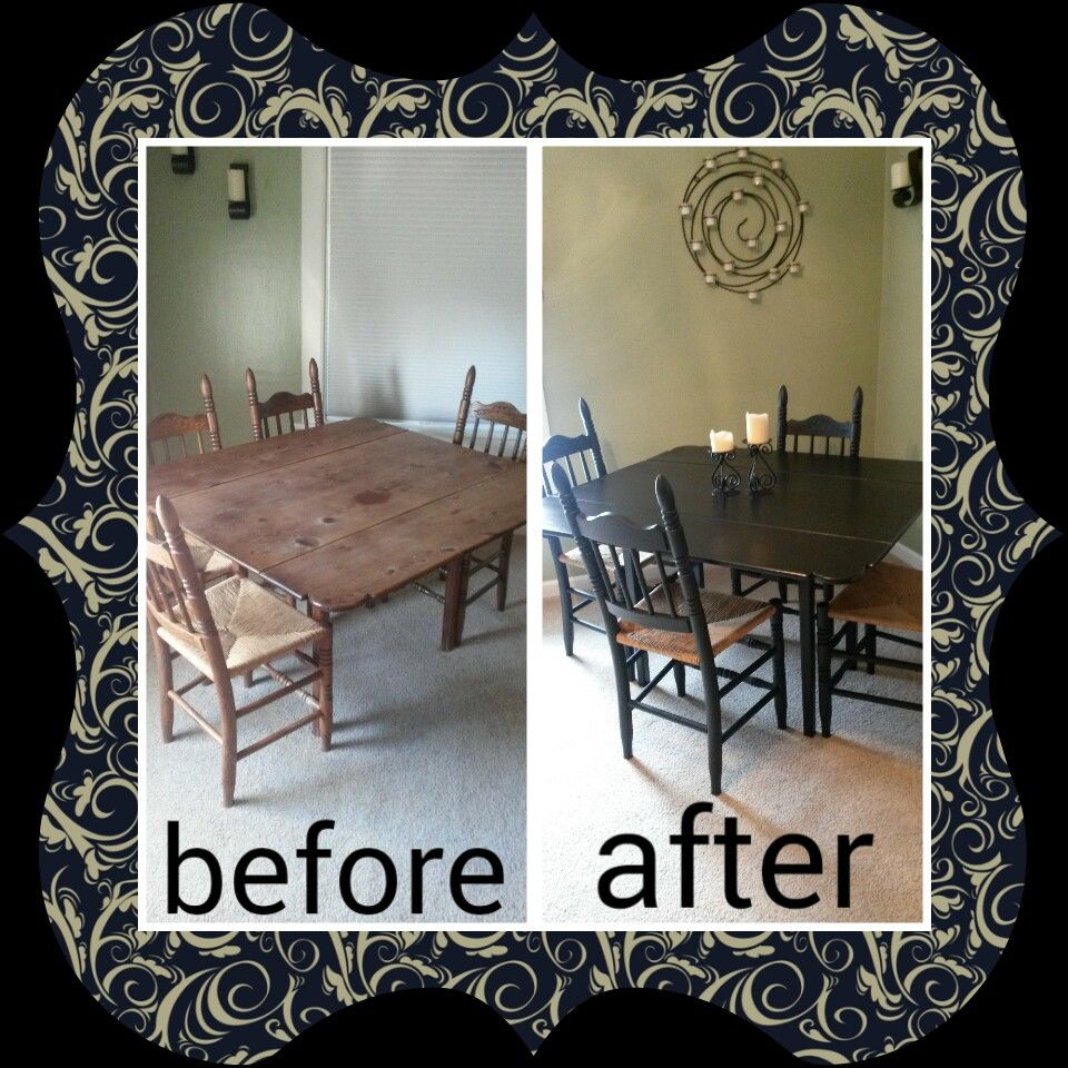 I love our dining table now! Did this with a kit from