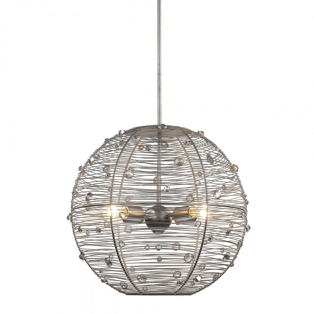 Joia light pendant in peruvian silver pendants entry foyer and