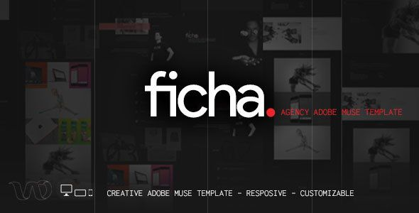 ficha creative muse template template adobe and psd templates