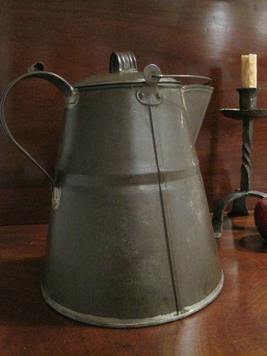 Antique 1800s RARE Authentic New England Shaker Tin Coffee Pot
