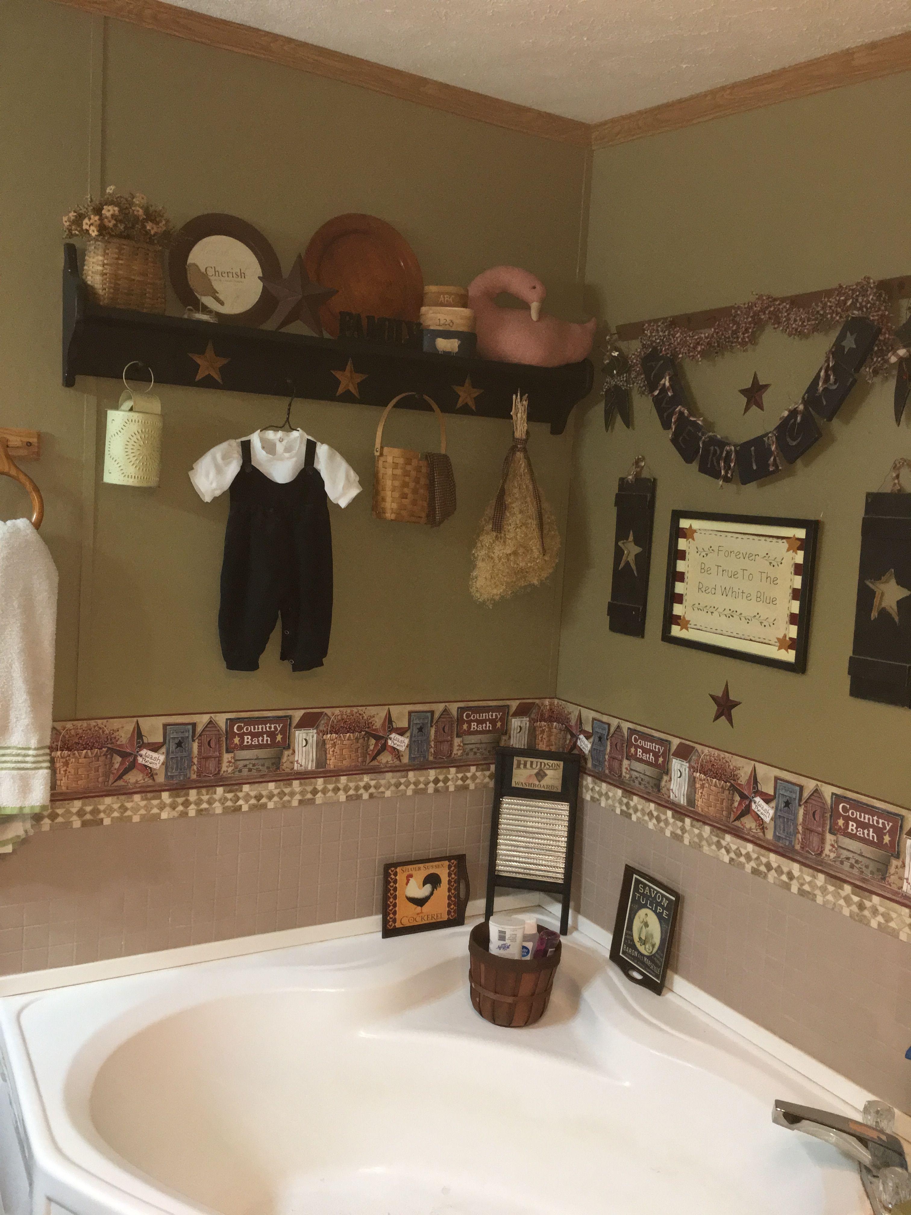 Primitive Bathroom Primitivebathrooms Primitive