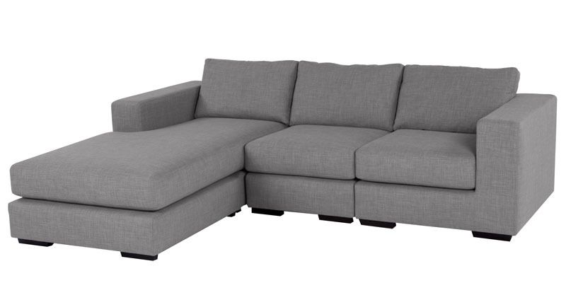Buy Emilio Rhs Sofa In Light Grey Colour By Furny Online Sectional Sofas Sectional Sofas Furniture Pepperfry Product L Shaped Sofa Sofa Sectional Sofa
