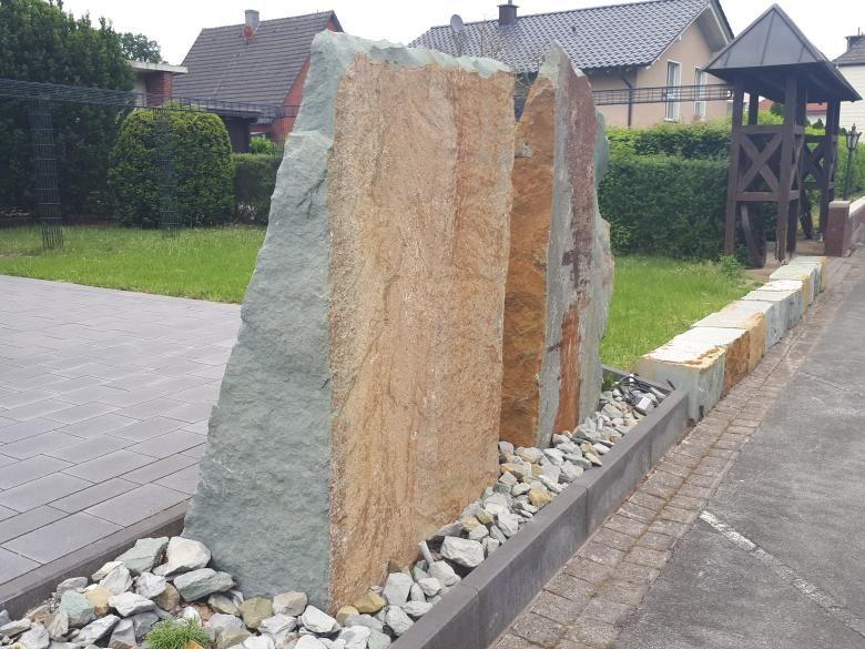 Naturstein Anrochter Kalksandstein Krustenplatten Blockspitzen Und Quader Gespalten Natursteine Steine Gartengestaltung