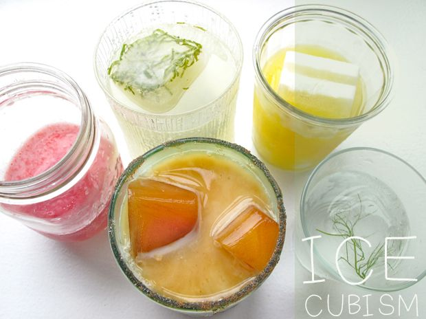 Delicious ice cubes to add to summer drinks