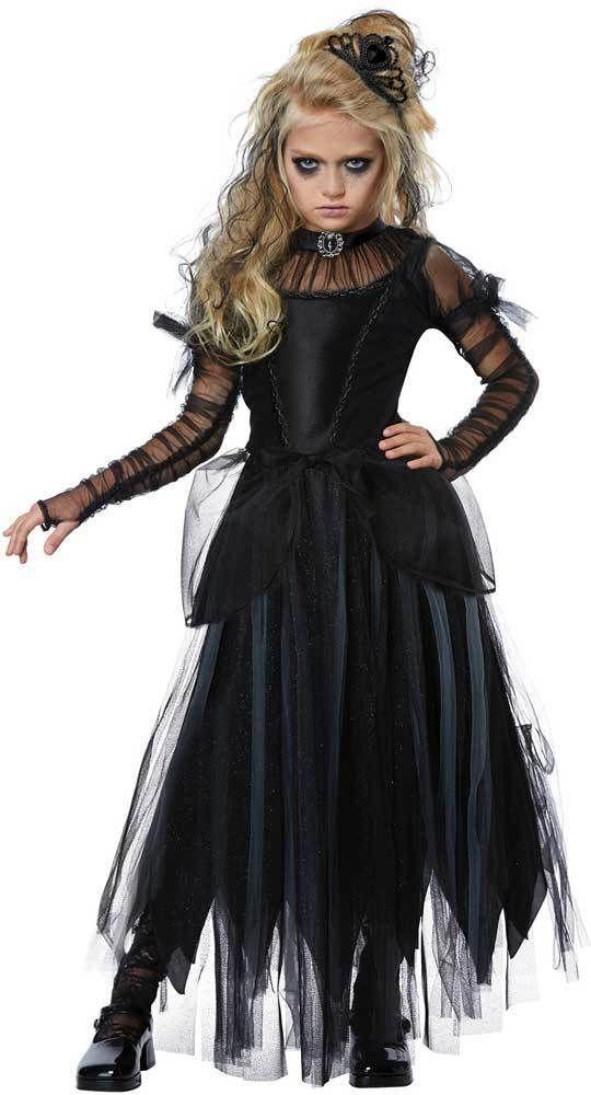 Spooky Creepy Ghastly Princess Dark Princess Ghastly Sorceress Halloween Costume   b773fc