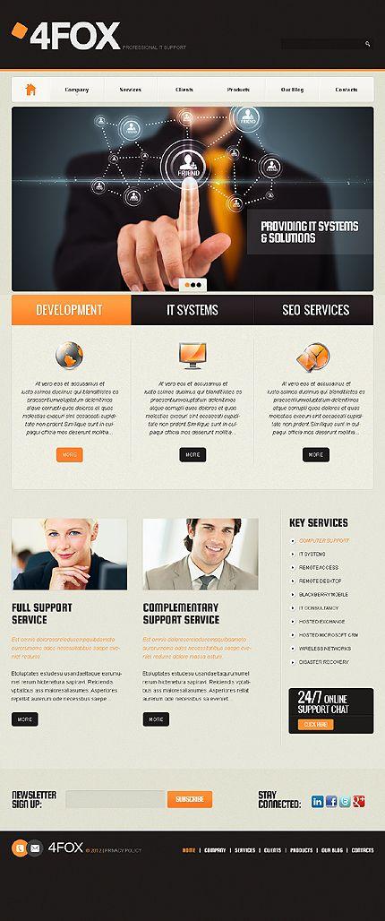 4fox Connect WordPress Themes By Sawyer It Company Website Premium Wordpress Information Technology