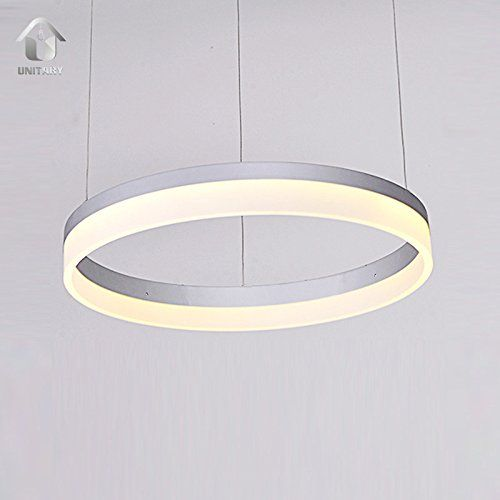 Unitary brand modern led acrylic shade aluminum ring pendant light unitary brand modern led acrylic shade aluminum ring pendant light warm white max 25w painted finish mozeypictures Images