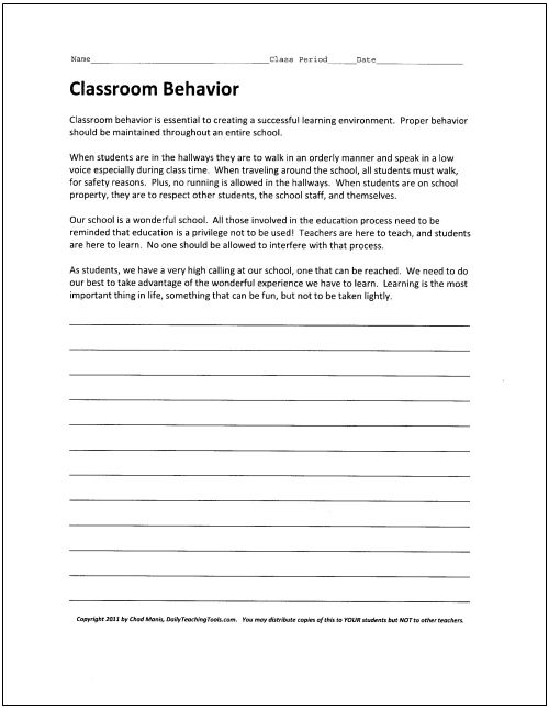 the importance of classroom behavior essay The good thing is good classroom educate is an easily obtainable skill, but a perishable skill as well before we learn how to demonstrate good classroom behavior we must first learn the benefits of good behavior.