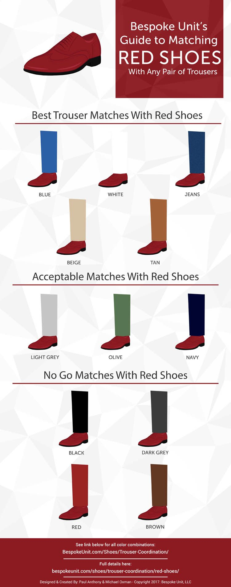 How To Pair Red Shoes With Different Trousers is part of Red dress shoes - Red shoes can be difficult to pair with trousers  How are you supposed to know what works and why  Let Bespoke Unit guide you through this advanced color