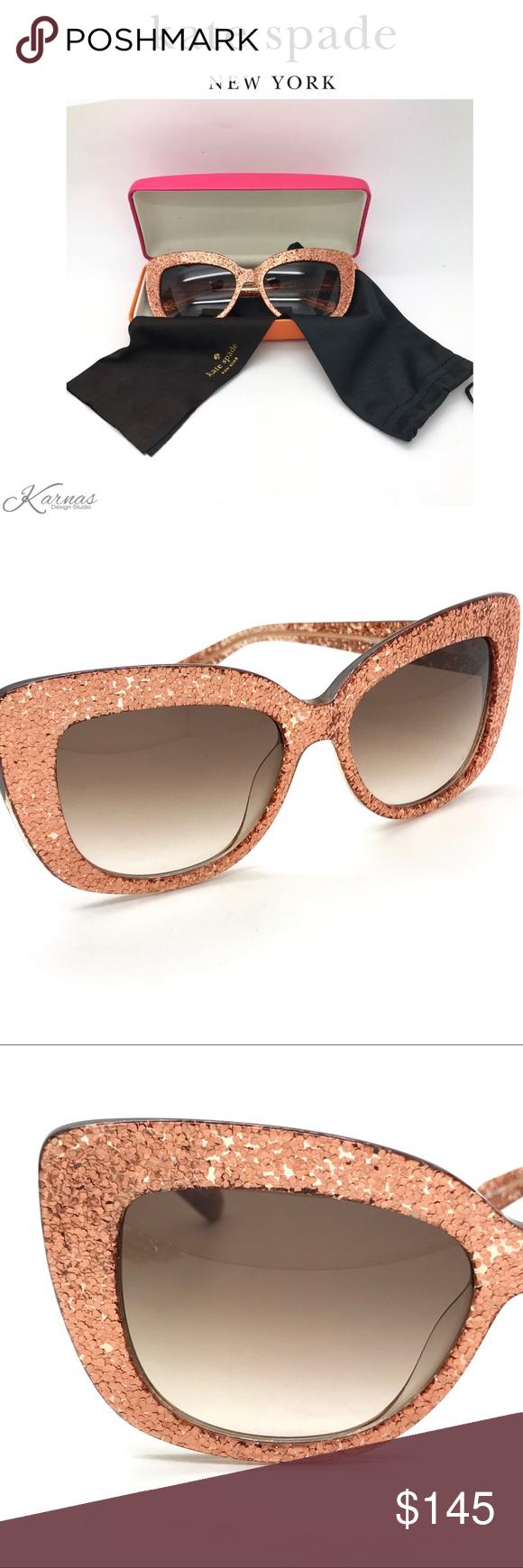 11222b675a23a NWOT Kate Spade Ursula Rose Gold Sunglasses 100% authentic Kate Spade  Ursula Rose