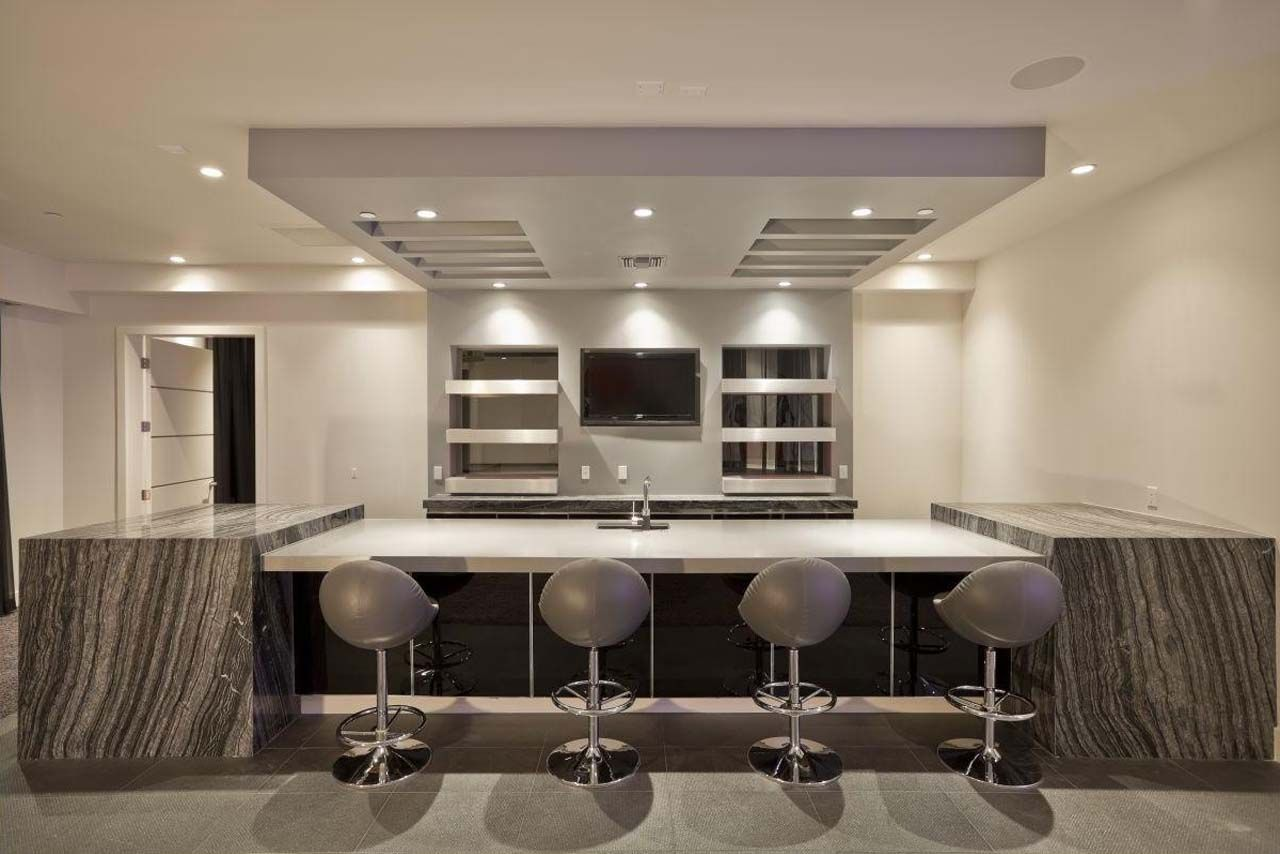 Ideas for Modern Home Bars - http://www.chezrollanda.com/ideas-for ...