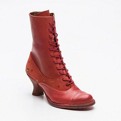 chaussures de séparation 545ce 38b13 Bottines à talons Rococo, cuir et cuir suédé rouge talon : 7 ...