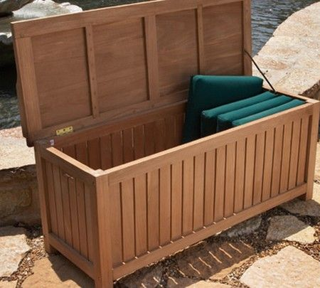 Cedar Deck Box Plans Outdoor Storage Bench Diy Deck Building A