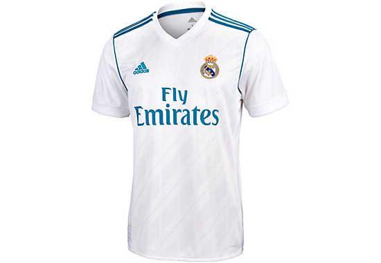 buy online 97446 c86c7 adidas Kids Real Madrid Home Jersey 2017-18   Kids Licensed ...
