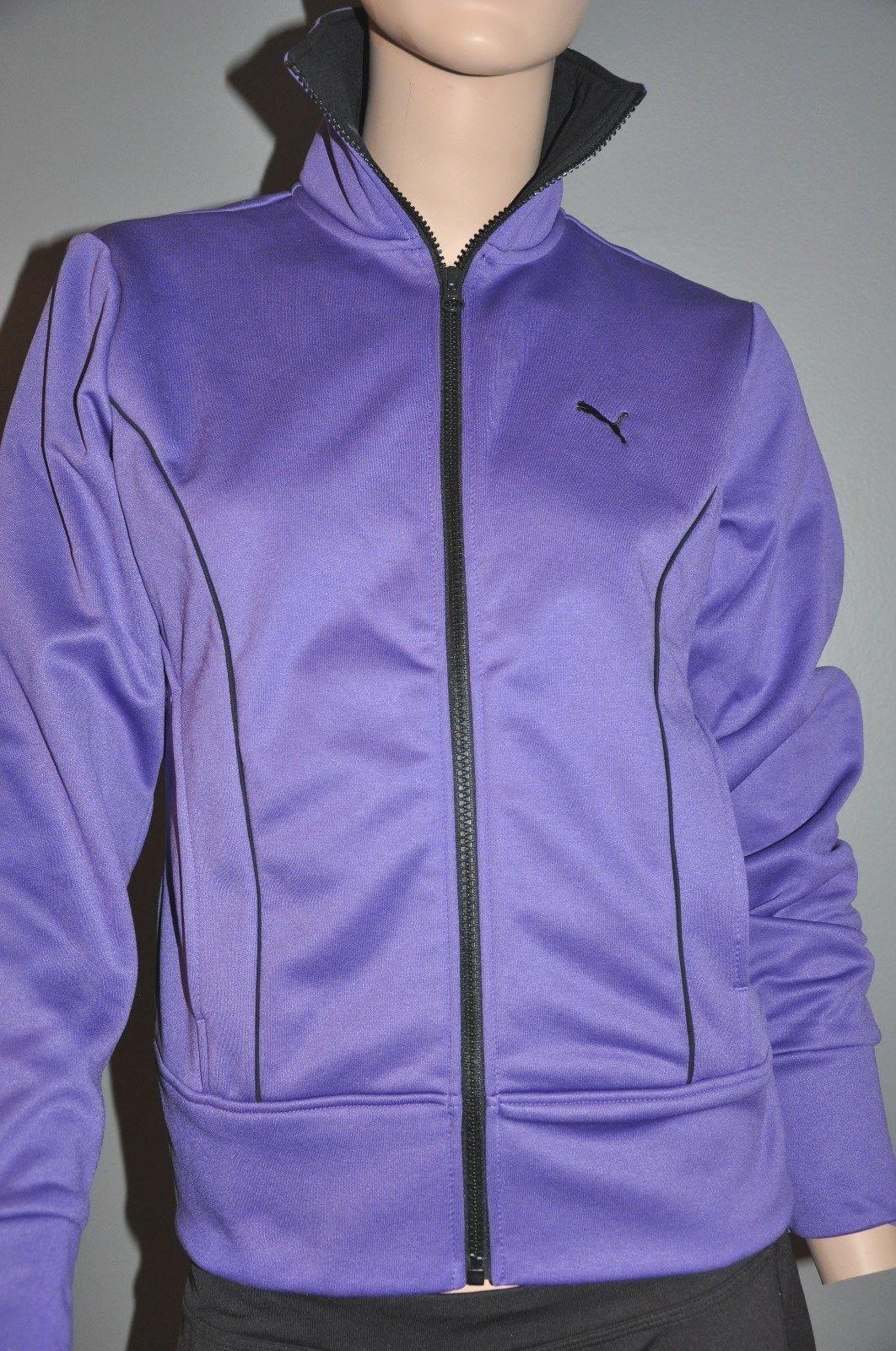 Puma womenus poly fleece jacket xssultra violetmsrp