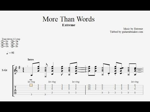 Extreme More Than Words Guitar Tabs Acoustic Fingerpicking