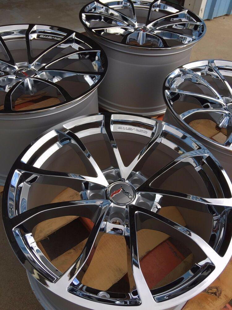 Details about Chrome GM 2019 Grand Sport Corvette Wheels