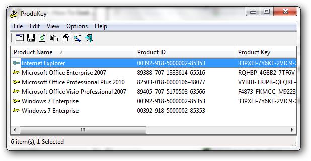 ProduKey Finder