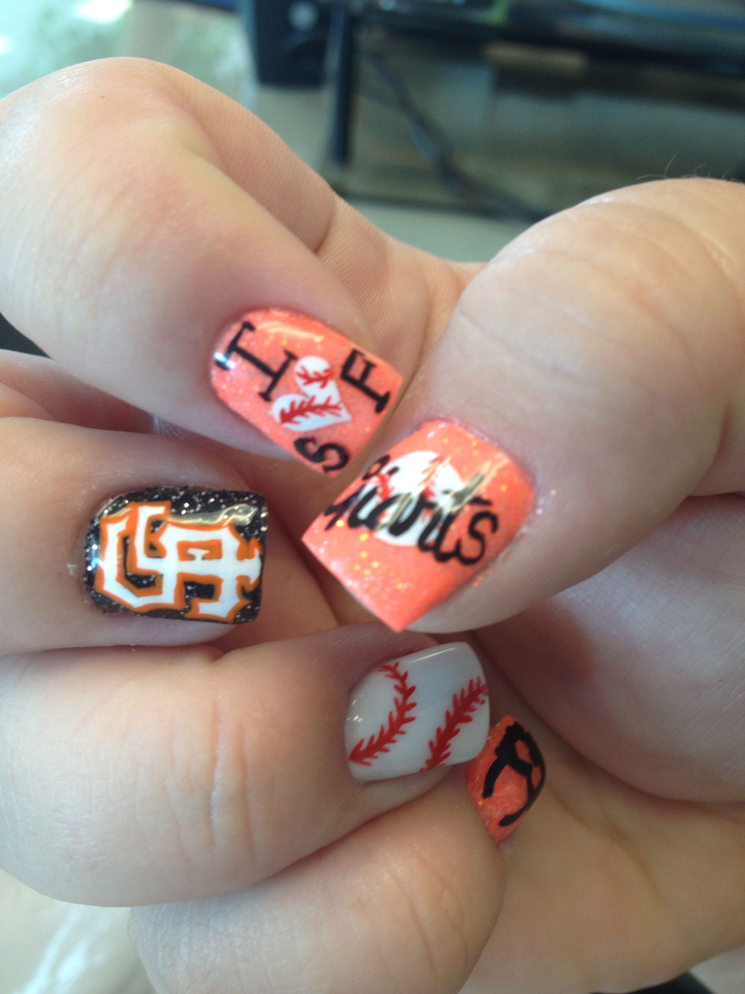 SF Giants. Nails by Jamie | My Nails :) | Pinterest | Sf giants ...