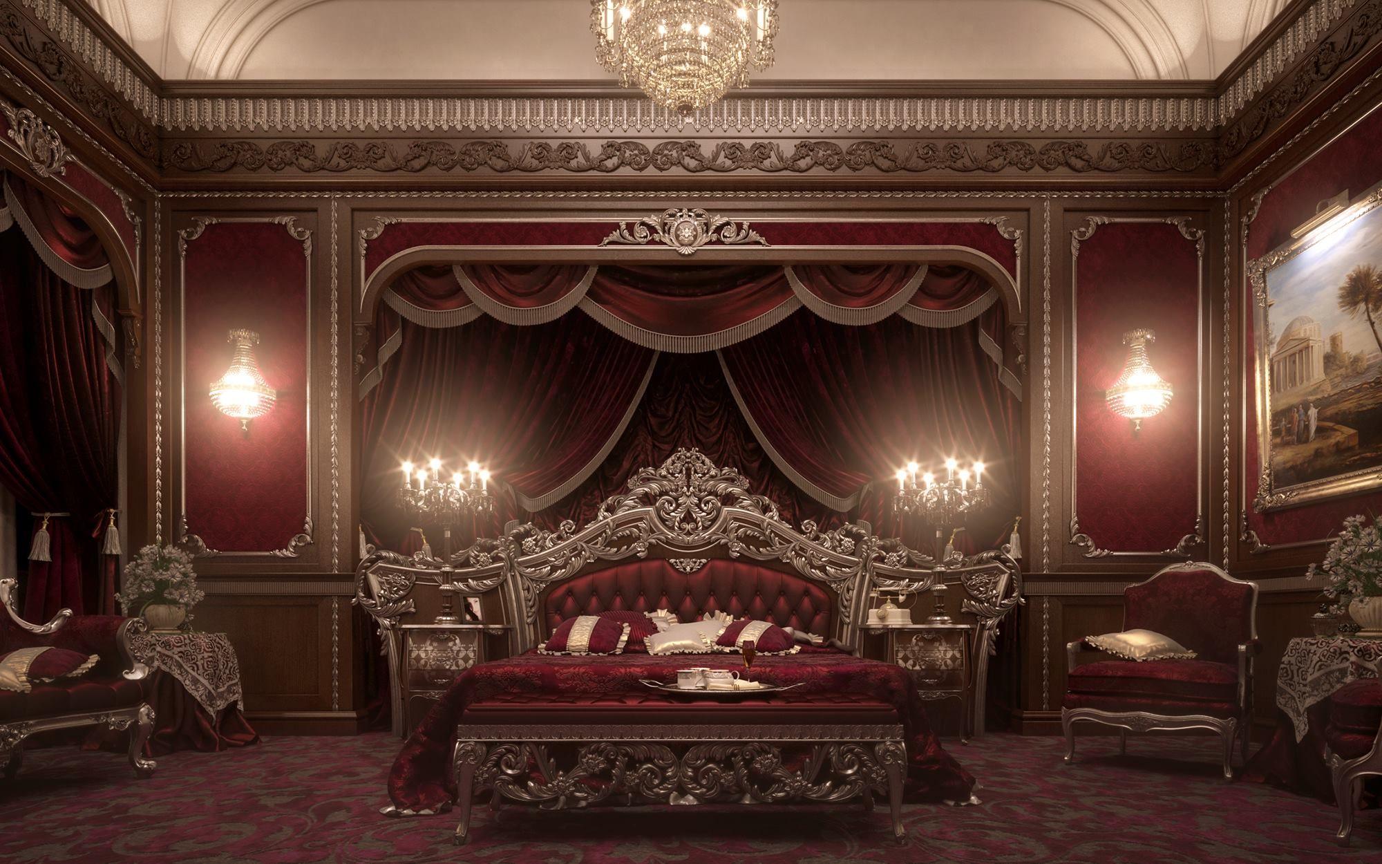 Ambiance Theatrale A L Italienne D Inspiration Victorienne Chambre Victorienne Design De Chambre De Luxe Deco Chambre Romantique Red luxury room pictures