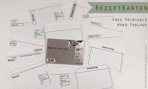 Rezeptbox Selber Machen Diy Rezept Free Printable Format Download Kostenlos Karten Rezeptkarten Vorlage Din Rezeptkarten Karteikarten Karten Drucken