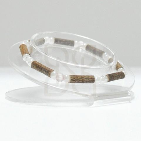 "Pure Hazelwood and Gemstone Bracelet - 7"" (Teens & Adults)"