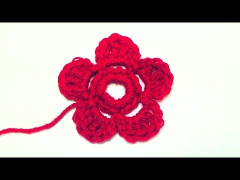 How to crochet a flower Schachenmayr Bravo Mezzo - YouTube ...