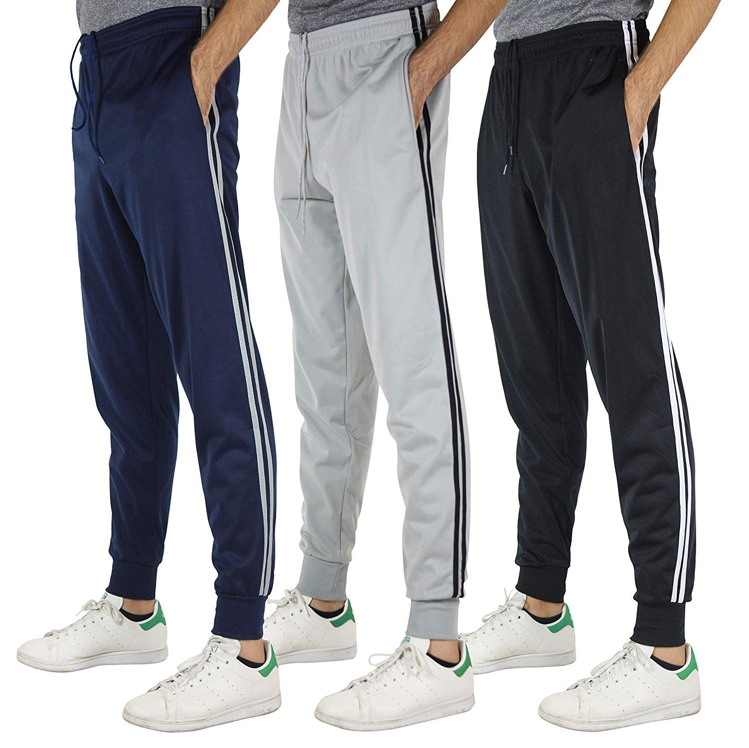 3 Pack: Men's Active Athletic Casual Jogger Sweatpants with Pockets - Set 2  - CT18H9OXNC4 Size Small | Casual joggers, Men sport pants, Jogger  sweatpants