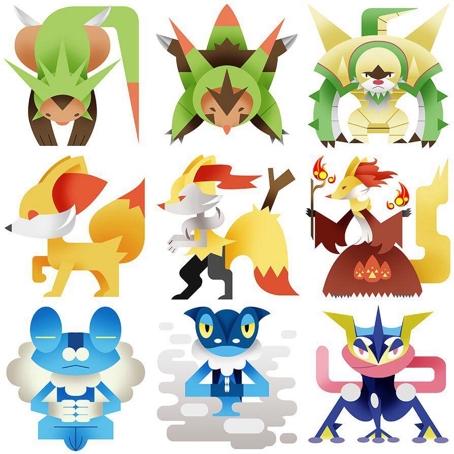 Shiny Gen 6 Starters | www.imgkid.com - The Image Kid Has It!