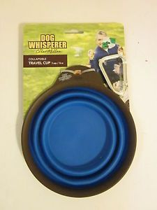 Dog Collapsible Travel Cup 16 oz NEW Dog Whisperer Cesar Millan Pet Cat Portable