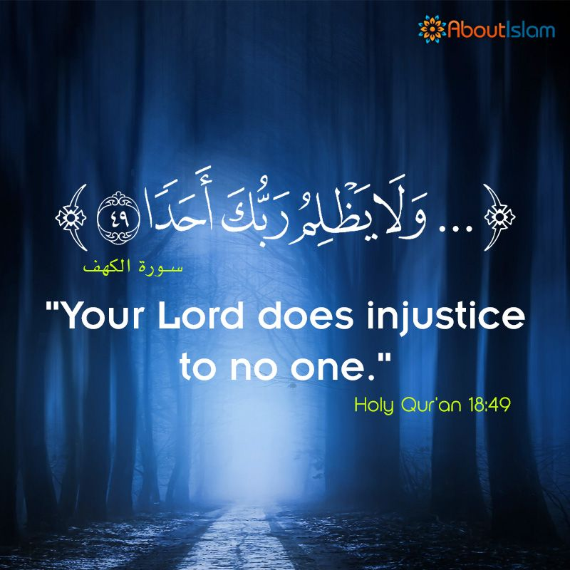 Allah Does Injustice To No One Quran Islam Justice