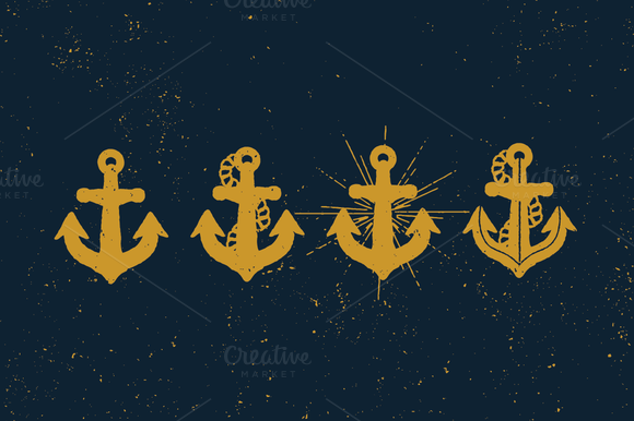 Check out Nautical Anchors by Artificial on Creative Market only $4! Great for any DIY projects you might have.