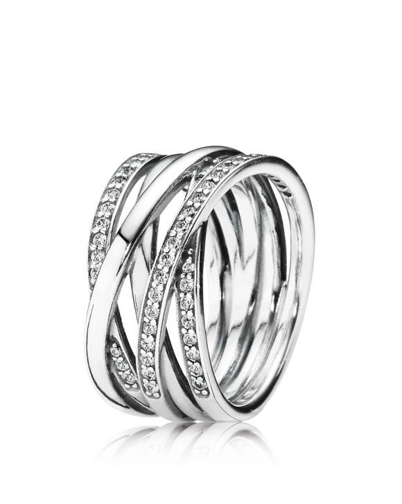 775fe09d7 PANDORA Sterling Silver & Cubic Zirconia Entwined Ring   Jewelry ...