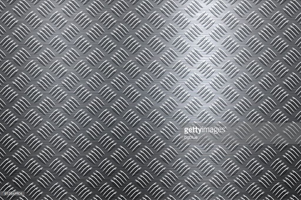 Arte vettoriale : Background of Metal Diamond Plate in Silver Color