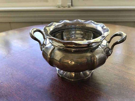 Antique Sterling Silver Vintage Sugar Bowl  Shreve Crump &